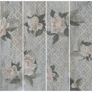 SG704500R | Поджио Цветы серый светлый обрезной