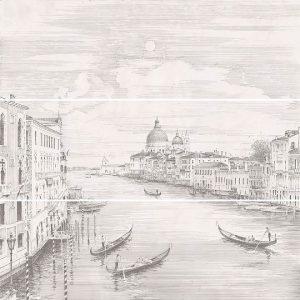 12109R\3x\3F | Панно Город на воде Venice, состоит из 3 частей 25х75 обрезной (размер каждой части)