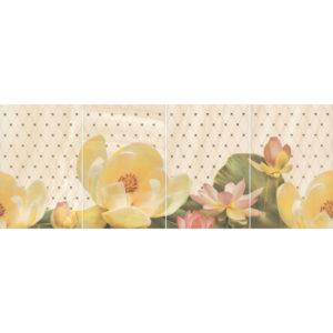 HGD\B56\4x\8260 | Панно Летний сад беж, панно из 4 частей 20х30 (размер каждой части)