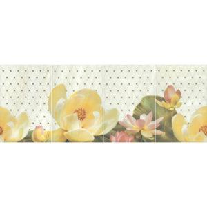 HGD\C56\4x\8261 | Панно Летний сад фисташковый, панно из 4 частей 20х30 (размер каждой части)