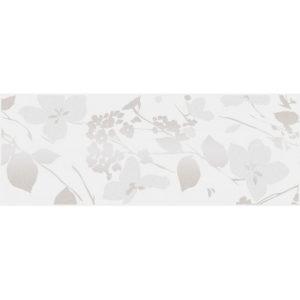MLD\A67\15000   Декор Вилланелла Цветы белый