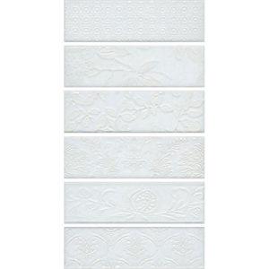 AD\A333\6x\2914 | Панно Кампьелло белый, состоит из 6 частей 8,5х28,5 (размер каждой части)