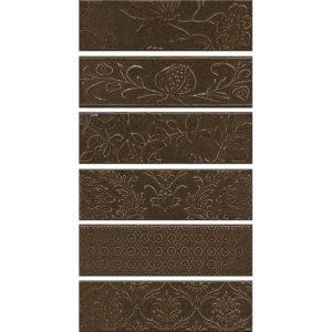 AD\D333\6x\2914 | Панно Кампьелло коричневый, состоит из 6 частей 8,5х28,5 (размер каждой части)