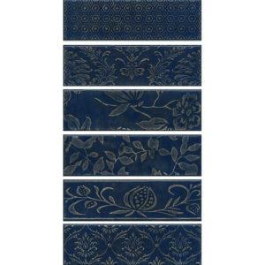 AD\B333\6x\2914 | Панно Кампьелло синий, состоит из 6 частей 8,5х28,5 (размер каждой части)