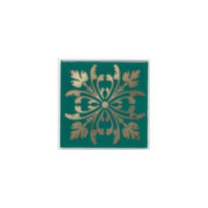HGD\E252\5246   Вставка Клемансо зелёный