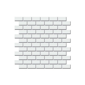 191\001   Декор Турнон белый матовый мозаичный