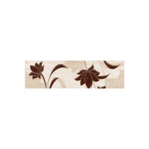 LR-B1-CH | Бордюр Laura Flowers шоколадный