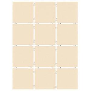 1235 | Конфетти бежевый светлый блестящий, полотно 30х40 из 12 частей 9,9х9,9
