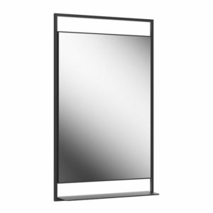 PL.N.mi.60\BLK | Панель с зеркалом PLAZA Next 60x100 с подсветкой LED