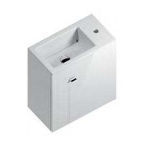 LA.50\WHT | Тумба LATO 50 см, дверца, белый глянец