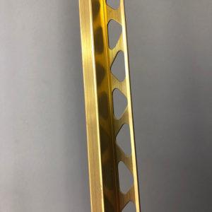 Профиль для ступеней ZET OWAL золото блестящее